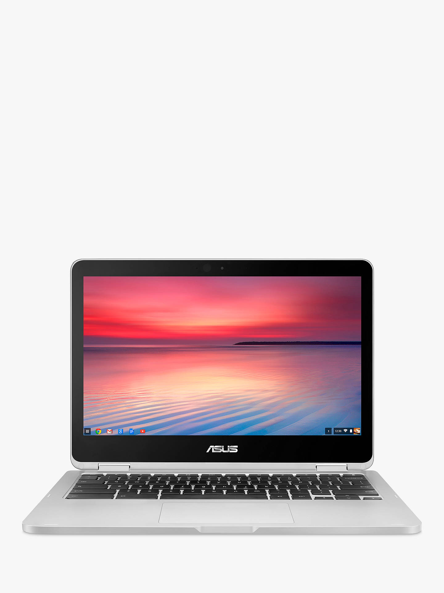 "Buy ASUS Chromebook C302ca, Intel Core M3, 4GB RAM, 64GB eMMC, 12.5"" Online at johnlewis.com"