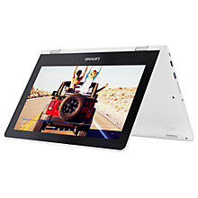 "Buy Lenovo Yoga 300 Convertible Laptop, Intel Celeron, 4GB RAM, 500GB, 11.6"" Touch Screen, Snow White Online at johnlewis.com"