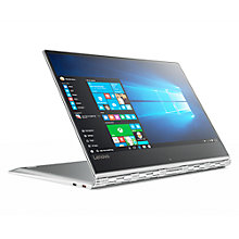 "Buy Lenovo Yoga 910 Convertible Laptop, Intel Core i7, 8GB RAM, 256GB SSD, 13.9"" 4K, Silver Online at johnlewis.com"