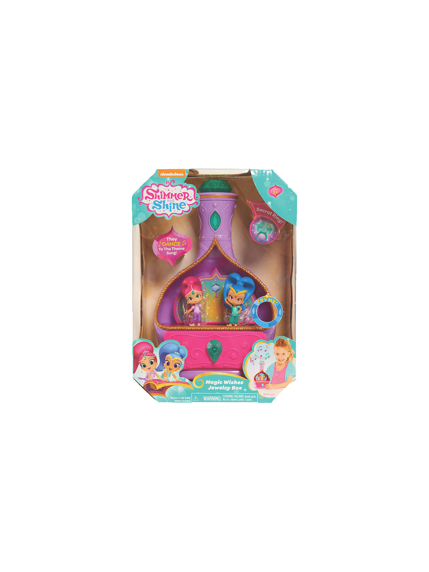 Shimmer and Shine Magic Wishes Jewellery Box at John Lewis & Partners