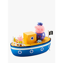 Buy Peppa Pig Grandpa Pig Bath Boat Online at johnlewis.com