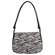 Buy Hobbs Richmond Leather Across Body Bag, Zebra Online at johnlewis.com