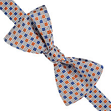 Buy Thomas Pink Pasmore Square Geo Self Tie Silk Bow Tie, Blue/Orange Online at johnlewis.com