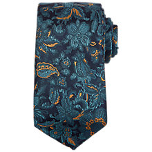 Buy Ted Baker Ballina Floral Pattern Silk Tie, Teal Online at johnlewis.com