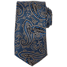Buy Ted Baker Cramer Paisley Silk Tie, Blue Online at johnlewis.com