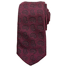 Buy Ted Baker Winton Paisley Silk Tie, Purple Online at johnlewis.com