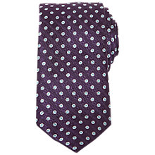 Buy Ted Baker Injune Tile Print Silk Tie, Purple Online at johnlewis.com