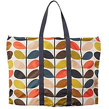 Buy Orla Kiely Foldaway Travel Bag, Multi Online at johnlewis.com