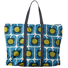 Buy Orla Kiely Lovebird Foldaway Holdall, Marine Blue Online at johnlewis.com