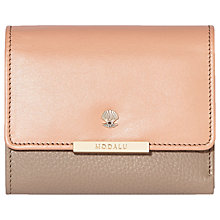 Buy Modalu Margot Leather Small Dropdown Purse, Dusky Mix Online at johnlewis.com