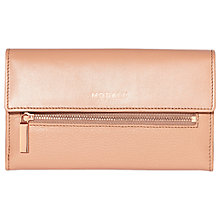 Buy Modalu Erin Leather Continental Wallet, Dusky Pink Online at johnlewis.com