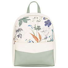 Buy Fiorelli Trenton Backpack, White Botanical Online at johnlewis.com