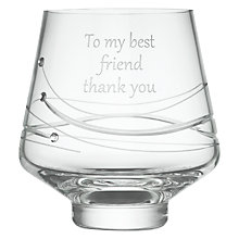 Buy Dartington Crystal Personalised Glitz Votive, Gabriola Font Online at johnlewis.com