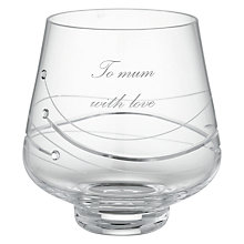 Buy Dartington Crystal Personalised Glitz Votive, Palace Script Font Online at johnlewis.com