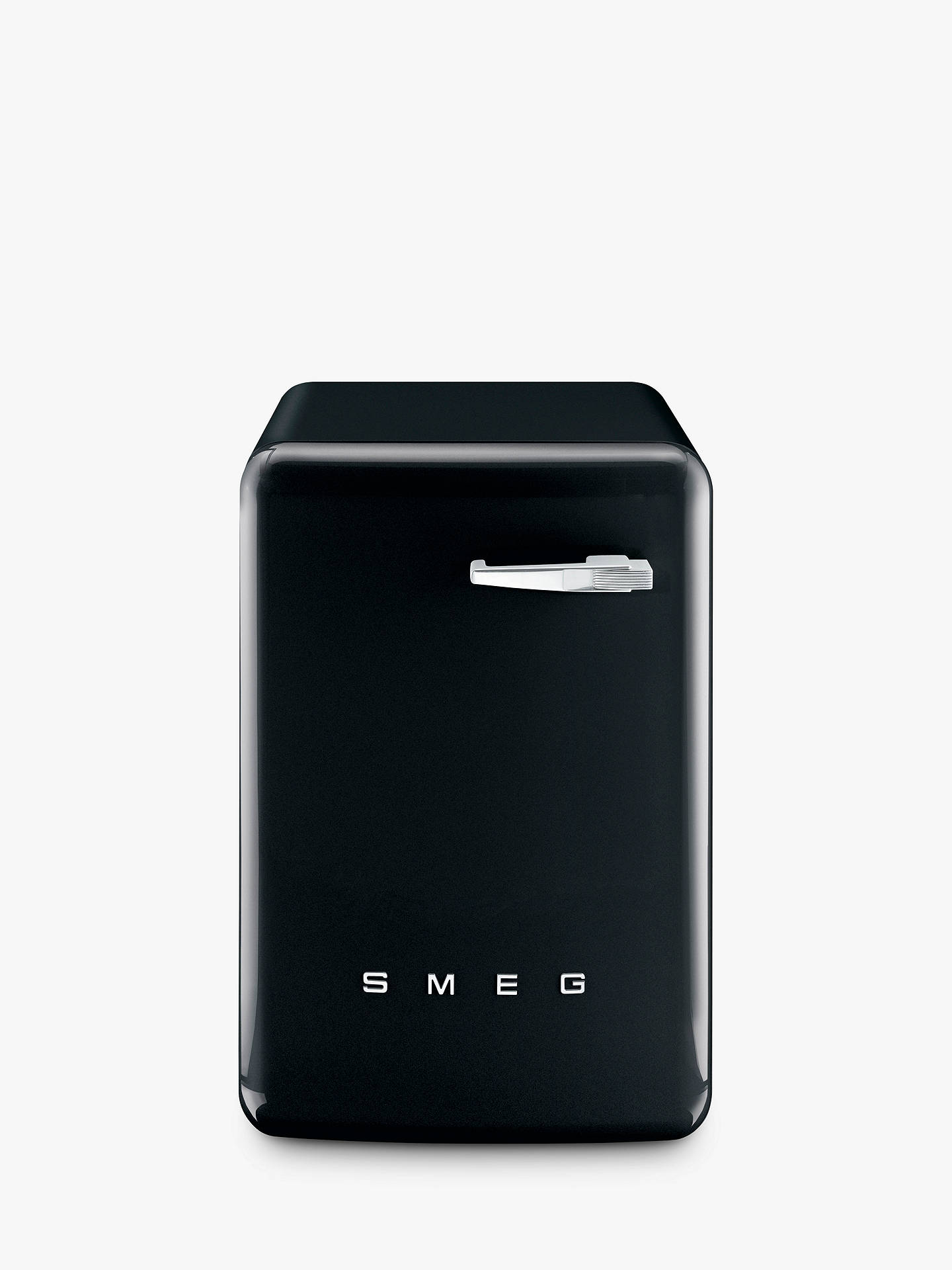 BuySmeg WMFABBL-2 Freestanding Washing Machine, 7kg Load, A++ Energy Rating, 1400rpm Spin, Black Gloss Online at johnlewis.com