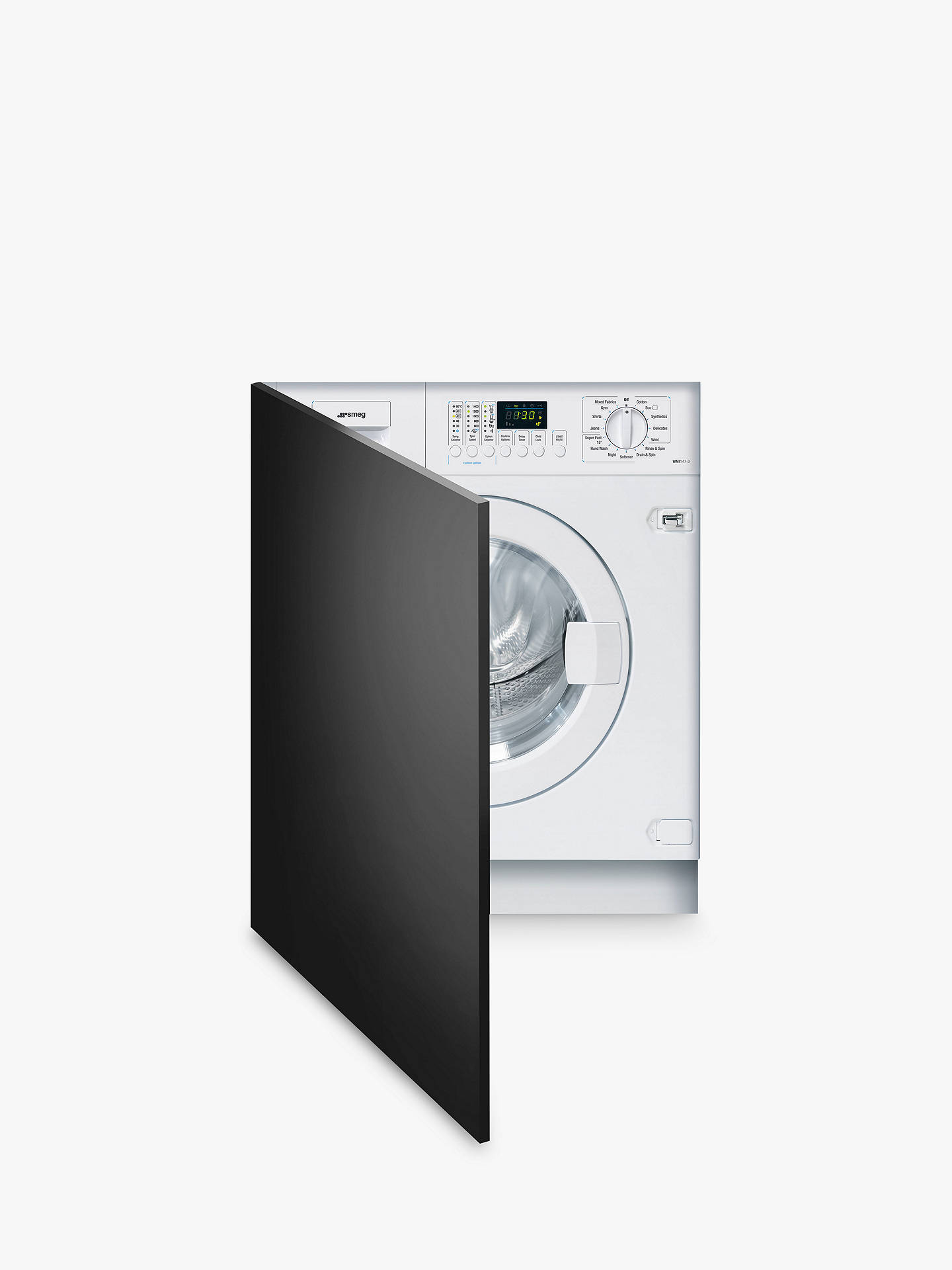 BuySmeg WMI147-2 Slimline Integrated Washing Machine, 7kg Load, A++ Energy Rating, 1400rpm Spin, White Online at johnlewis.com