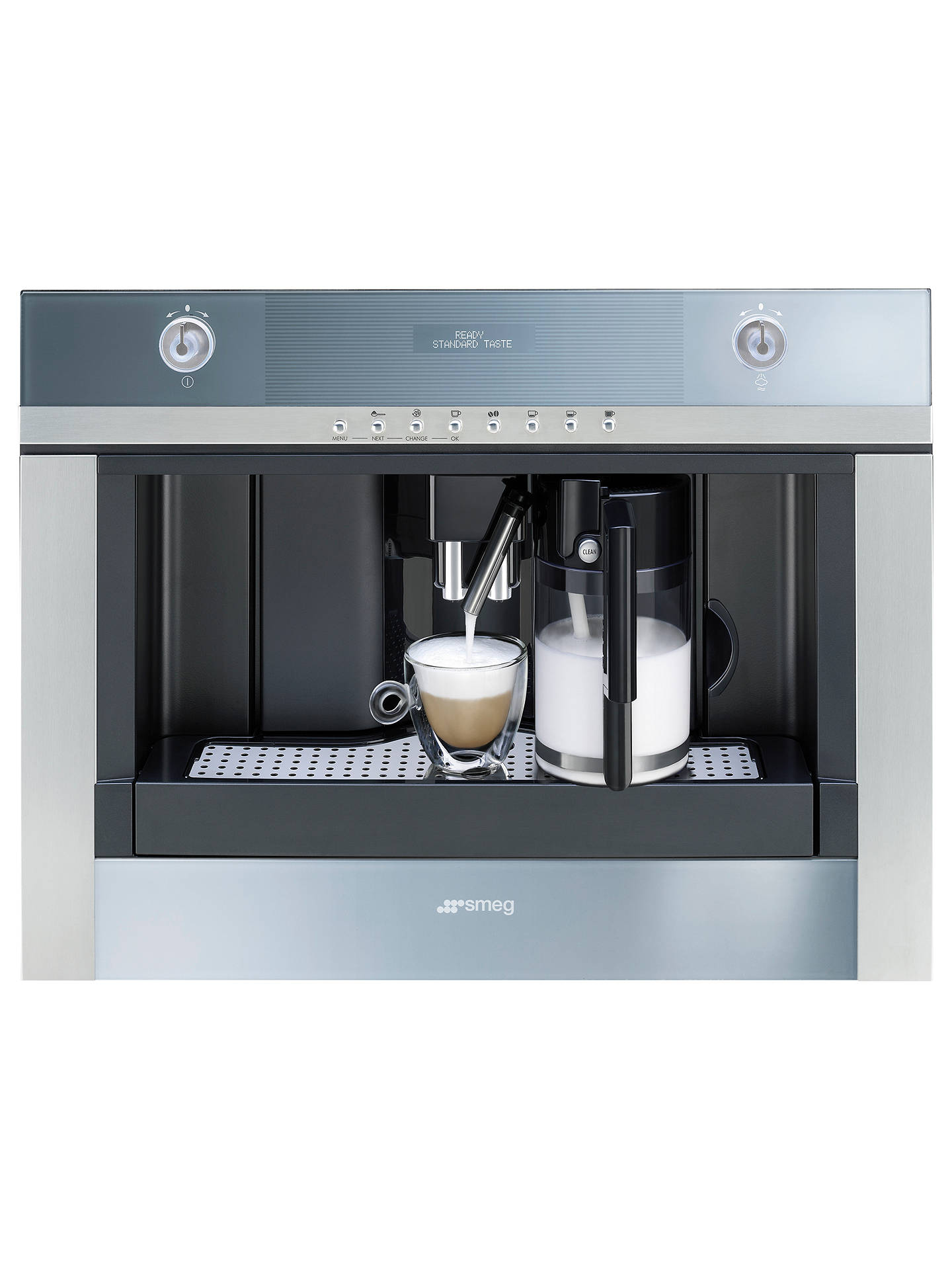 Buy Smeg CMSC451 Bean-to-Cup Integrated Coffee Machine, Stainless Steel Online at johnlewis.com