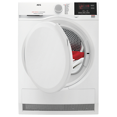 AEG T6DBG720N Condenser Tumble Dryer, 7kg Load, B Energy Rating, White