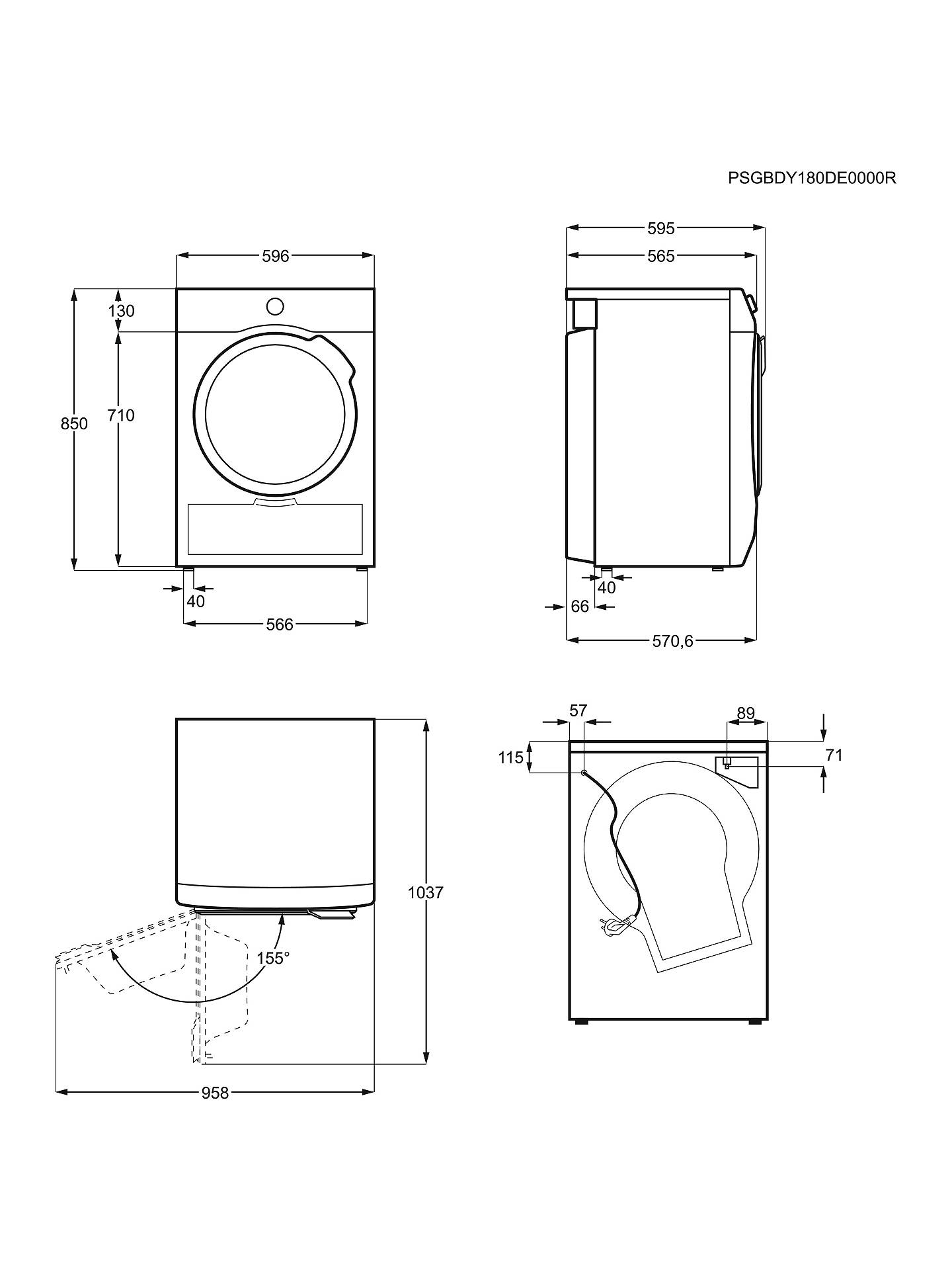 Aeg T6dbg720n Condenser Tumble Dryer 7kg Load B Energy Rating