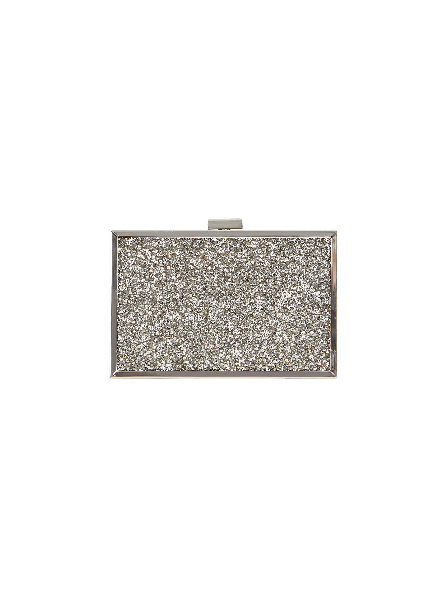 f36f7d9954e Buy Coast Tayla Sparkle Box Clutch Bag, Gunmetal Online at johnlewis.com ...