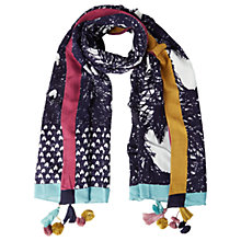 Buy White Stuff Scribble Heart Scarf, Navy Online at johnlewis.com