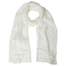 Buy White Stuff Window Pane Scarf, White Online at johnlewis.com