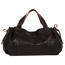 Buy Gerard Darel Leather Le 24 Heures Bag, Black / Red Online at johnlewis.com