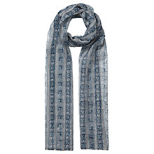Buy East Sonali Handblock Print Scarf, Ensign Online at johnlewis.com