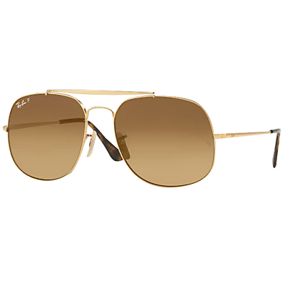 Ray-Ban RB3561 The General Polarised Square Sunglasses