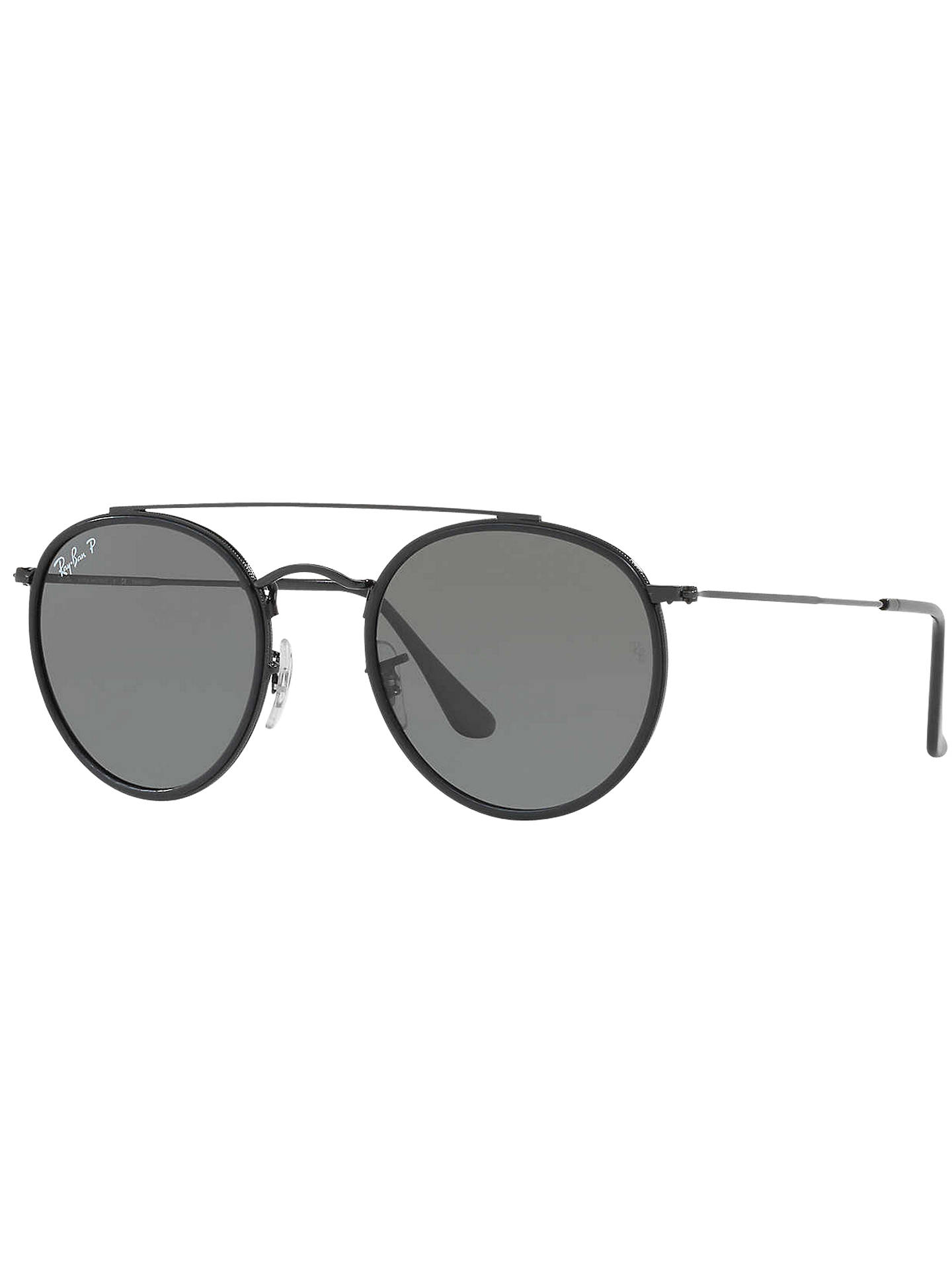 f2f6c5c4fa5 Ray-Ban RB3647N Polarised Double Bridge Round Sunglasses at John ...
