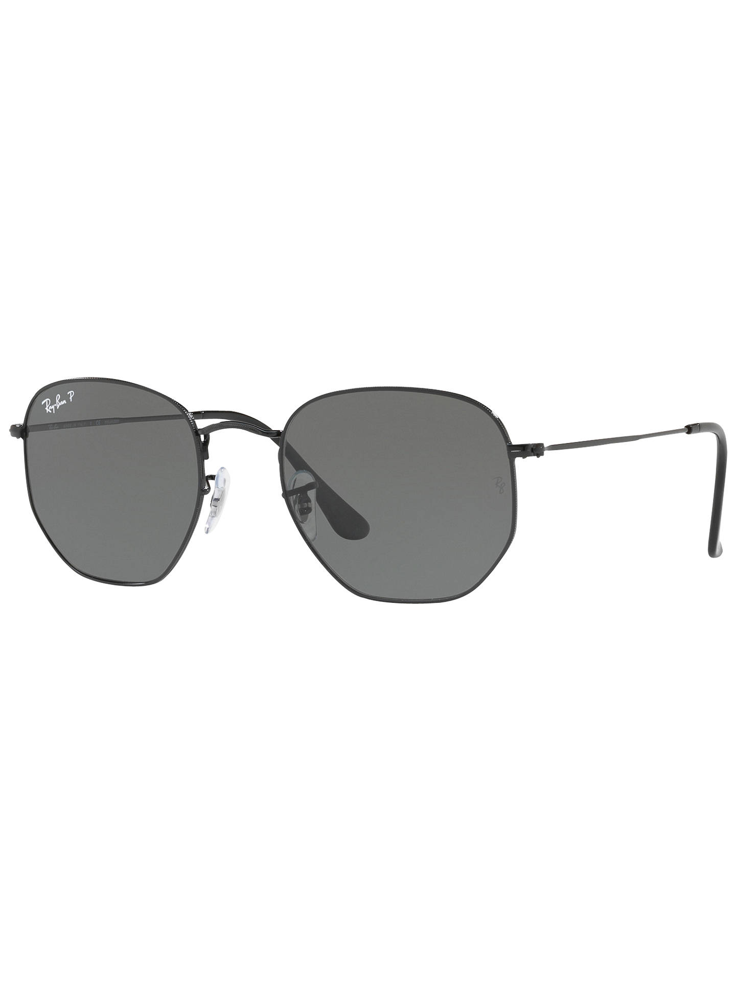 b037cb1738d Ray-Ban RB3548N Polarised Hexagonal Flat Lens Sunglasses at John ...
