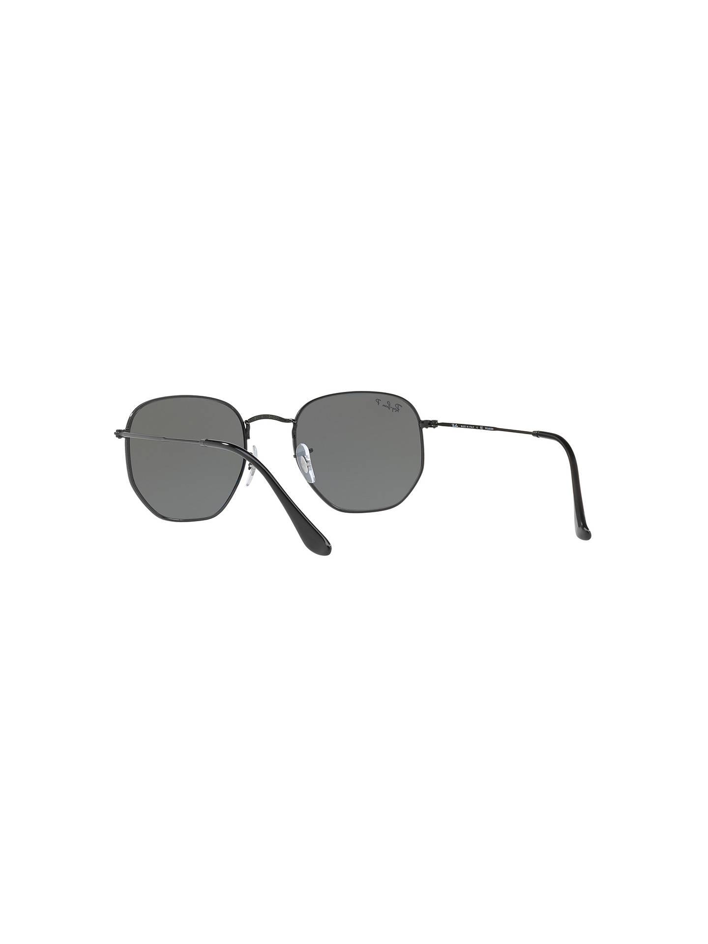 7cb58aaf0e Ray-Ban RB3548N Polarised Hexagonal Flat Lens Sunglasses at John ...