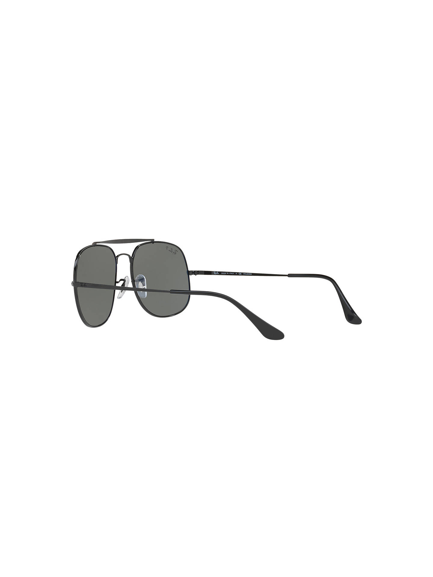 BuyRay-Ban RB3561 The General Polarised Square Sunglasses, Black/Grey Online at johnlewis.com