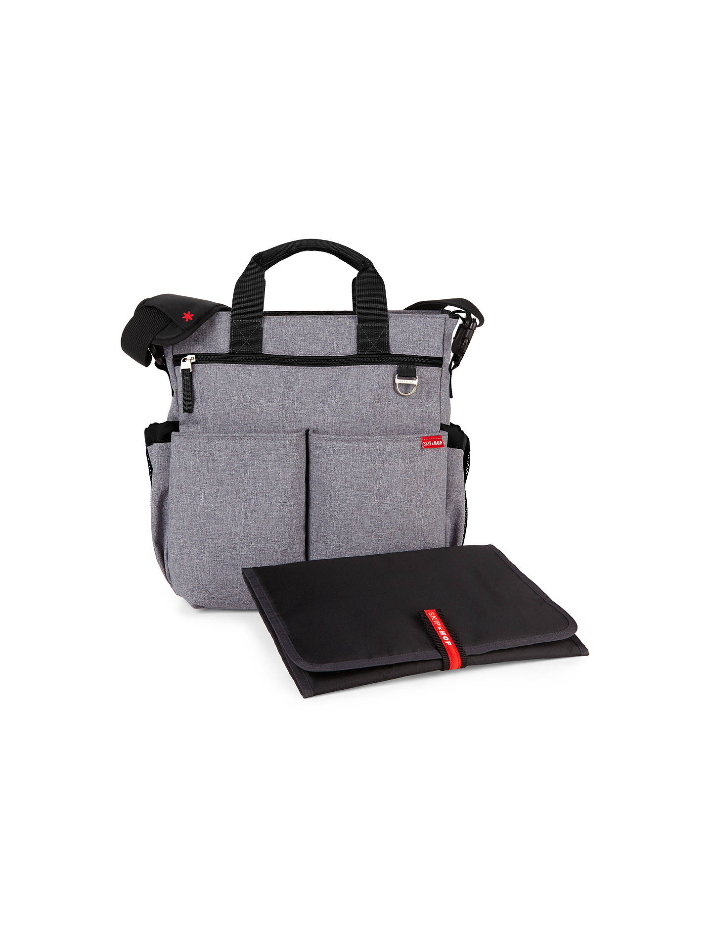 72d7b6819c734 Buy Skip Hop Duo Signature Changing Bag, Heather Grey Online at  johnlewis.com ...
