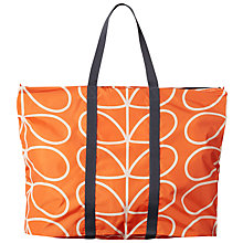 Buy Orla Kiely Linear Stem Foldaway Holdall, Persimmon Online at johnlewis.com
