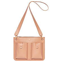 Buy Modalu Carter Leather Shoulder Bag, Dusky Pink Online at johnlewis.com