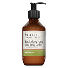 Buy Balance Me Revitalising Hand & Body Lotion, 280ml Online at johnlewis.com