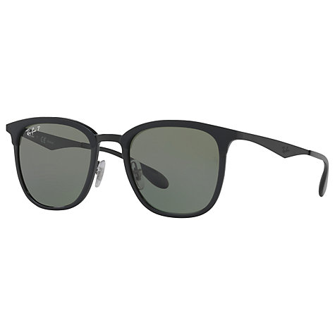 ray ban prescription sunglasses south africa  buy ray ban rb4278 polarised square sunglasses, matte black/grey online at johnlewis