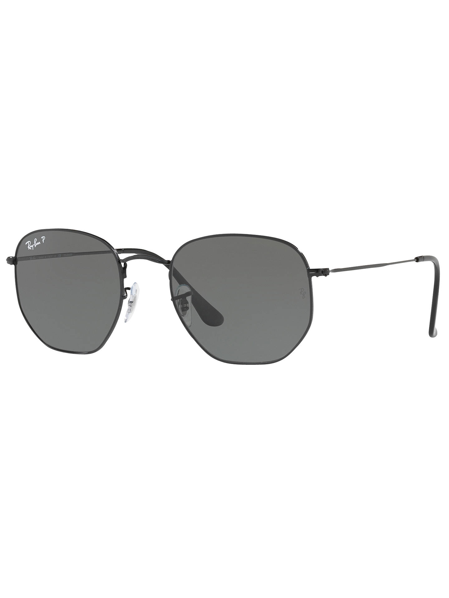 eb1694a23d Ray-Ban RB3548N Polarised Hexagonal Flat Lens Sunglasses at John ...