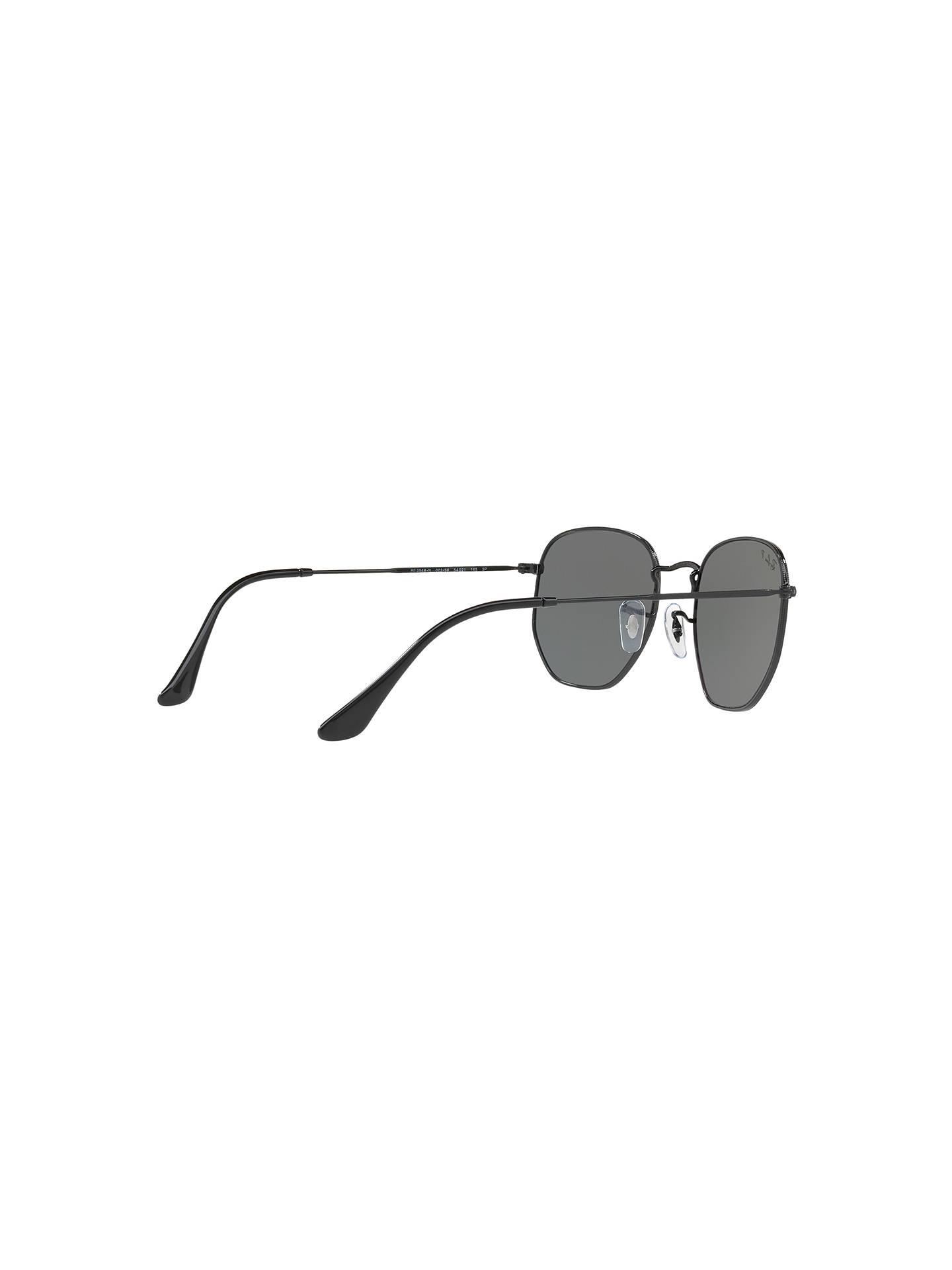 78d6989d41c Ray-Ban RB3548N Polarised Hexagonal Flat Lens Sunglasses at John ...