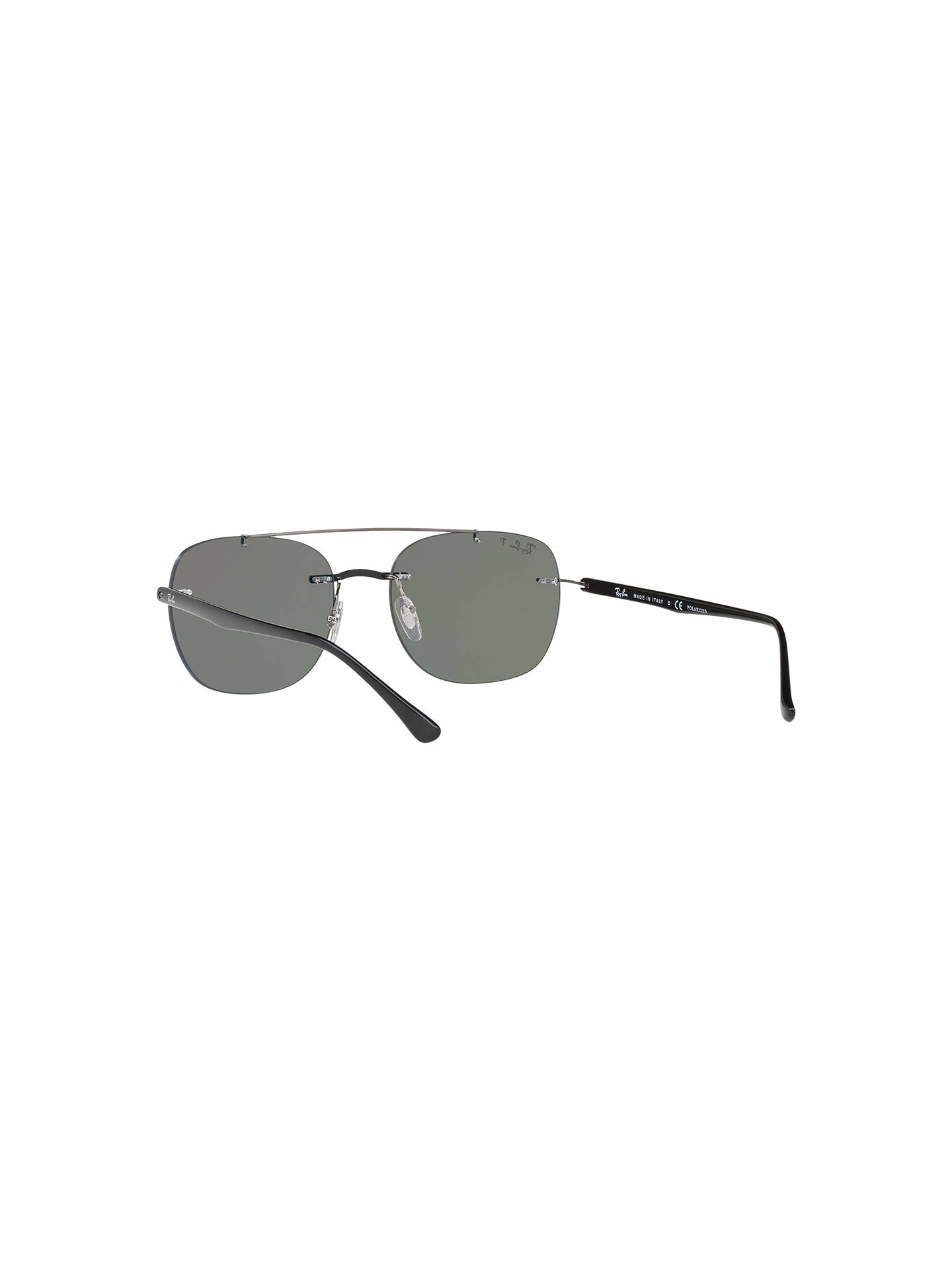 Buy Ray-Ban RB4280 Polarised Square Sunglasses, Silver/Grey Online at johnlewis.com