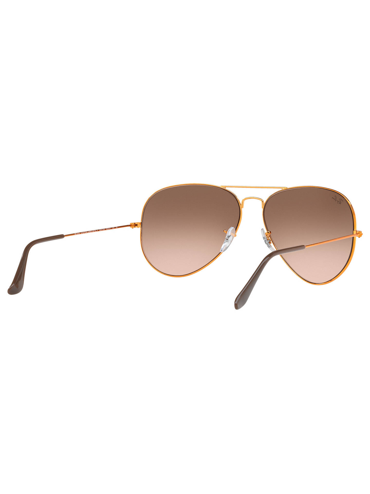 Buy Ray-Ban RB3026 Men's Large Aviator Sunglasses, Gold/Brown Gradient Online at johnlewis.com