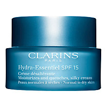 Buy Clarins Hydra Essentiel Silky Cream SPF 15, 50ml Online at johnlewis.com