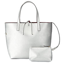 Buy John Lewis Tia Reversible Grab Bag, Silver / Plum Online at johnlewis.com