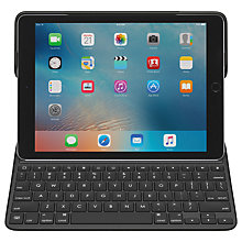 "Buy Logitech Create Backlit Keyboard Case for iPad Pro 9.7"" with Pencil Holder and Smart Connector, Black Online at johnlewis.com"