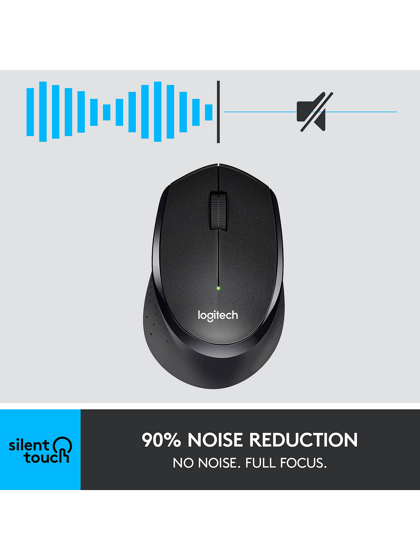 Logitech M330 Silent Plus Mouse At John Lewis Partners M331 Cordless Buylogitech Black Online