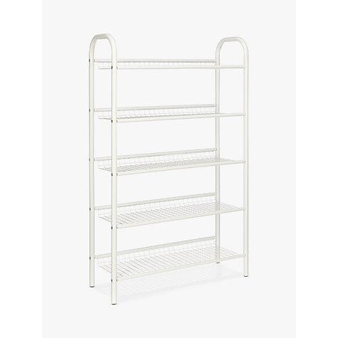 buy john lewis 5 tier shoe rack white online at