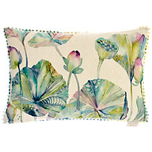 Buy Voyage Lotus Leaves Cushion, Duck Egg Online at johnlewis.com