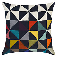 Buy west elm Warp Float Crewel Cushion, Multi Online at johnlewis.com