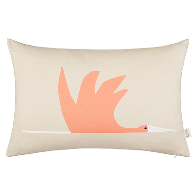 Scion Colin Crane Cushion, Orange / Grey